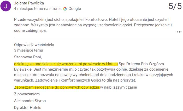 Hotel Dr Irena Eris Wzgórza Dylewskie